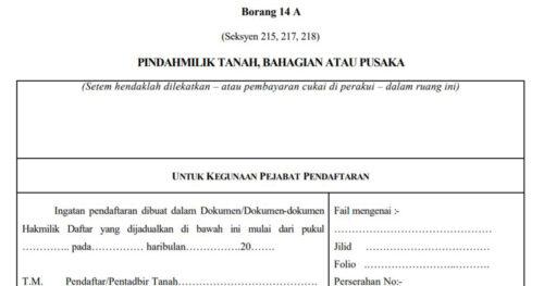 Land transfer procedure in Malaysia